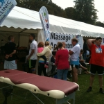 Reigate Marathon runners waiting for their sports massages